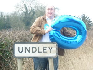 Out on the campaign trail in Undley