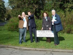 Showing Matt Hancock MP and Geoffrey Van Orden MEP the speed of traffic in Station road, Lakenheath