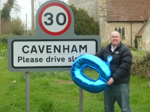 Out on the campaign trail in Cavenham