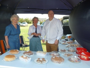 With the good ladies of the Local Conservative Branch setting out the home-made cakes