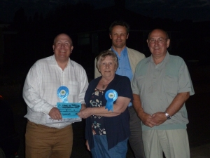 Out canvassing into the darkness of Oulton Broad Lowestoft with Deanna and Colin Law and Peter Aldous MP