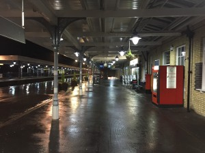Ely Station with no a single other person about!