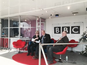 on the sofa with BBC Radio Suffolk's Lesley Dolphin at the Suffolk Show