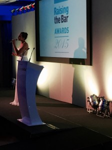 2015_06_25 Laura Wright Singing at Raising the Bar Awards